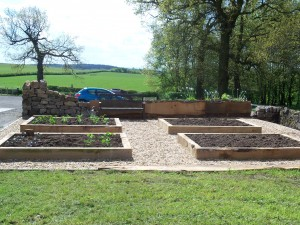 Extention to kitchen garden complete.