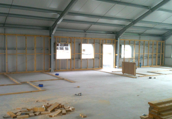 Construction stages Muircot Farmshop 24th August