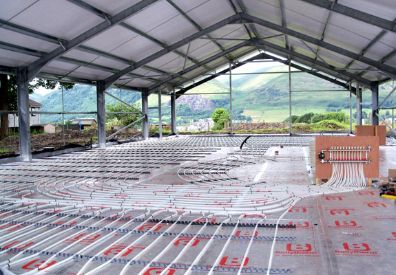 Construction stages Muircot Farmshop 25th July