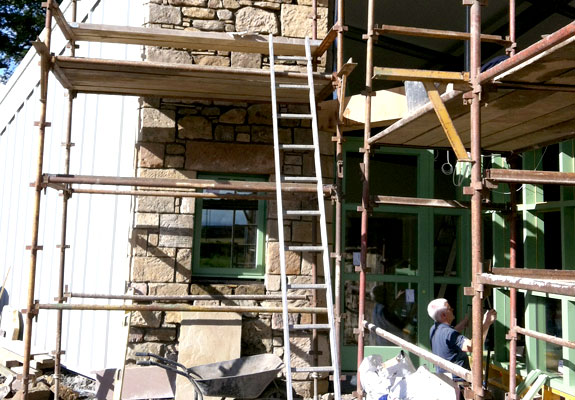 Construction stages Muircot Farmshop 28th Sept