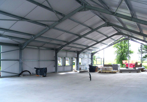 Construction stages Muircot Farmshop 3rd August