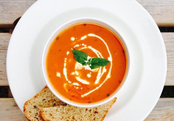 Homemade soup at Muircot Farmshop